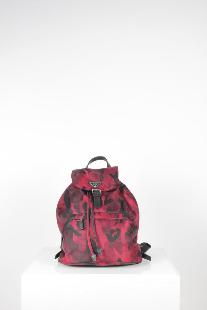 Tessuto Camouflage Backpack by Prada