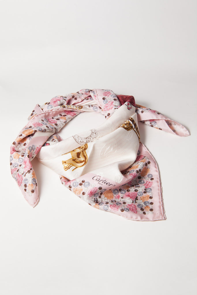 Cartier animal jewelled scarf by Cartier