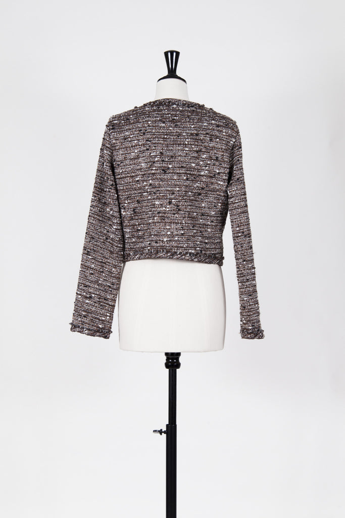 Boucle jacket with sequin detail by Pinko