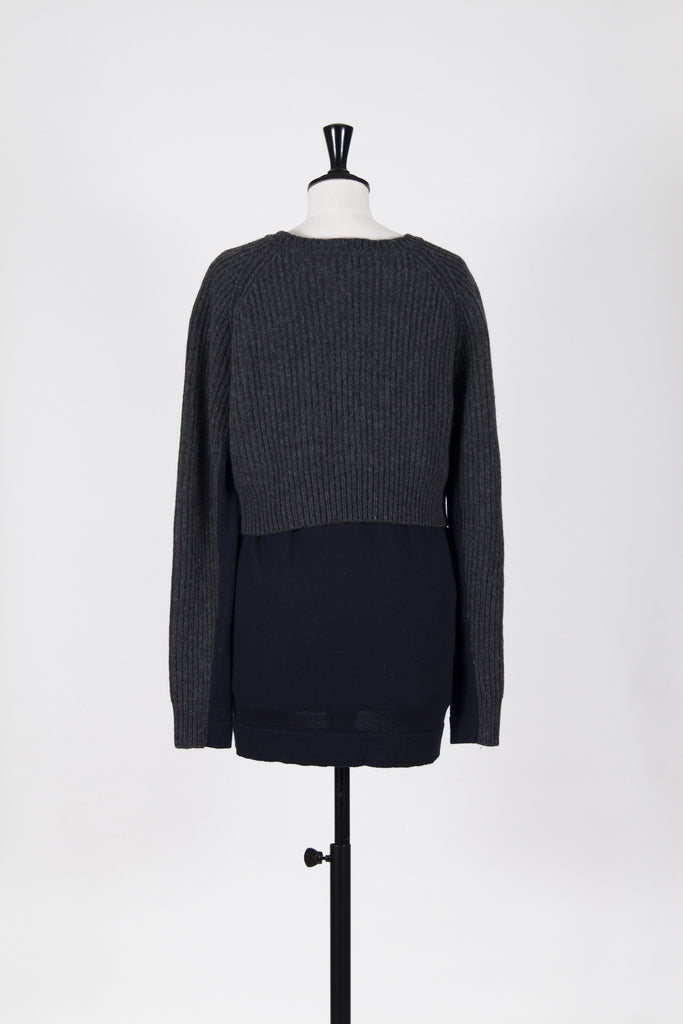 Contrasting knit sweater by Acne