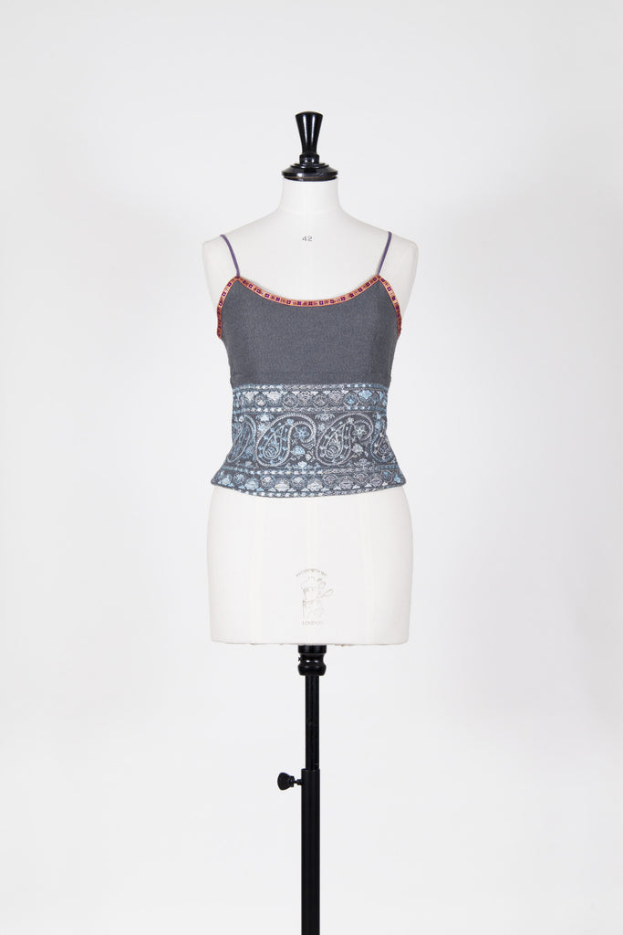 Embroidered vest top by Voyage