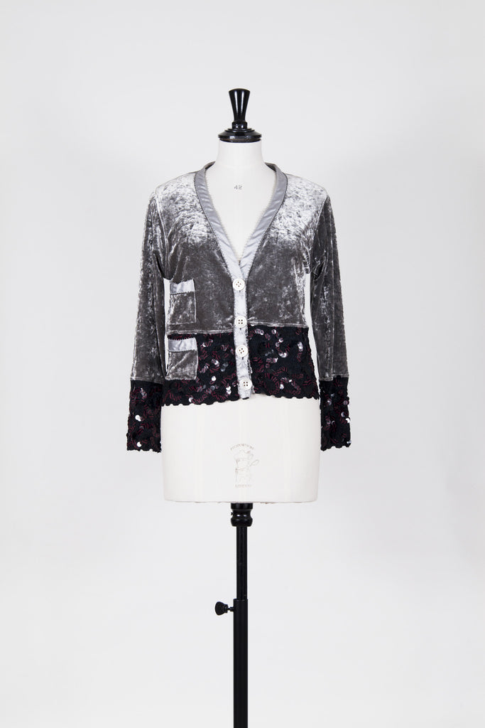 Velvet and sequin cardi by Voyage