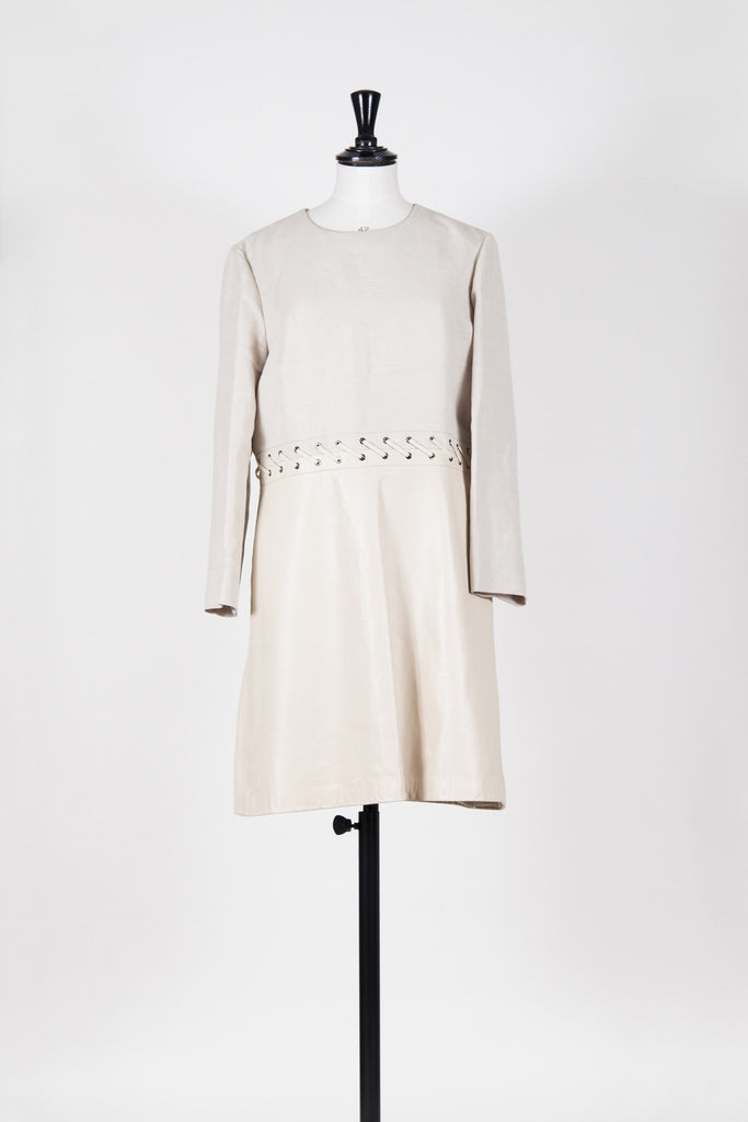 Canvas and leather dress by Chloe