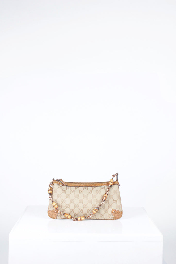 GG Canvas and Bamboo Pochette by Gucci