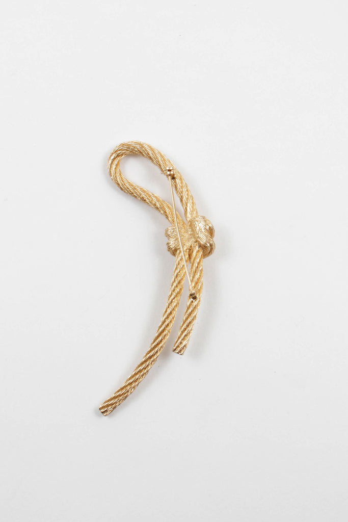 Twisted Rope Pin Brooch by Christian Dior