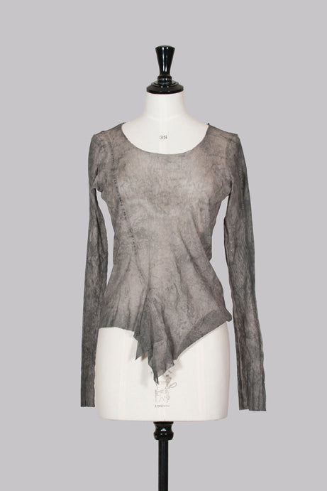 Sheer long-sleeved top by Rundholz