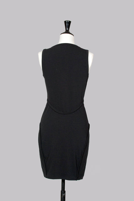 Ponte zip-front dress by T by Alexander Wang