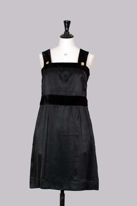 Silk and velvet pinafore dress by See By Chloe