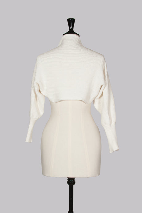Cream textured shrug by Martin Margiela