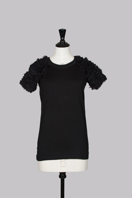 Ruffle-sleeved top by D&G