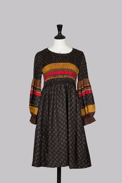 Peasant-style ruched dress by DKNY