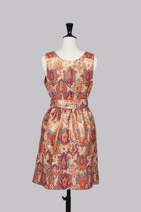 Paisley patterned shimmering shift dress by Marc by Marc Jacobs