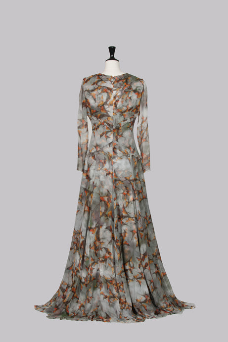 Prussian Swallow full-length gown by Erdem