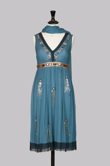 Embellished silk dress by Philosophy di Alberta Ferretti