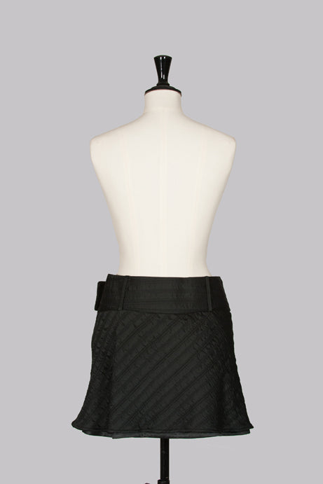 Broad-belted mini skirt by Emporio Armani