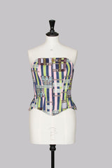 Multicoloured zip-front corset by Christian Lacroix Bazar at Isabella's Wardrobe