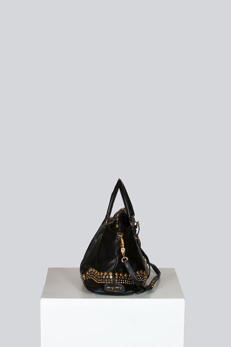 Miu Miu Studded leather tote by Miu Miu