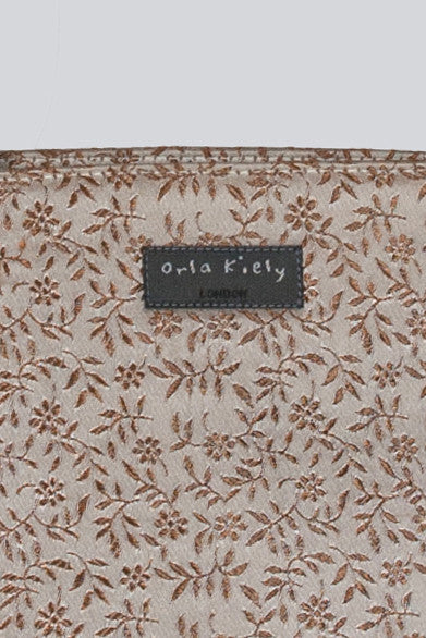 Silk embroidered small tote bag by Orla Kiely
