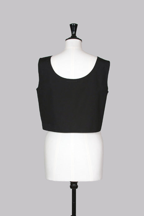 Cropped buttoned side top by Jean Paul Gaultier