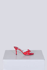 Polka-dot high-heeled sandals by Gina at Isabella's Wardrobe
