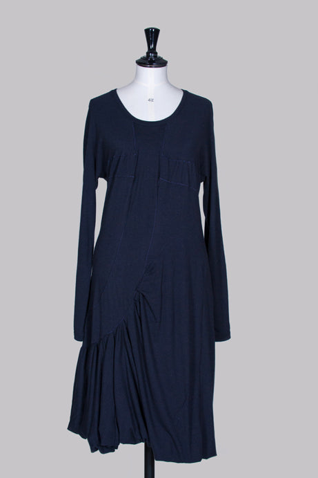 Long-sleeved dress with gathered hem by Marithe et Francois Girbaud