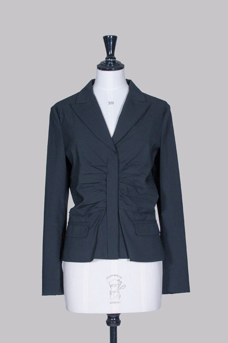 Ruched-front jacket by Prada