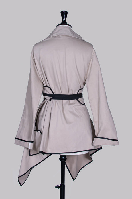 Obi-belt jacket by Elio Fronterre