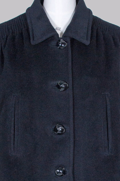 Three-quarter length wool jacket by Rochas