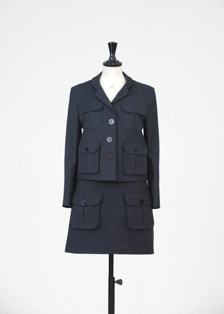 Single breasted skirt suit by Mulberry