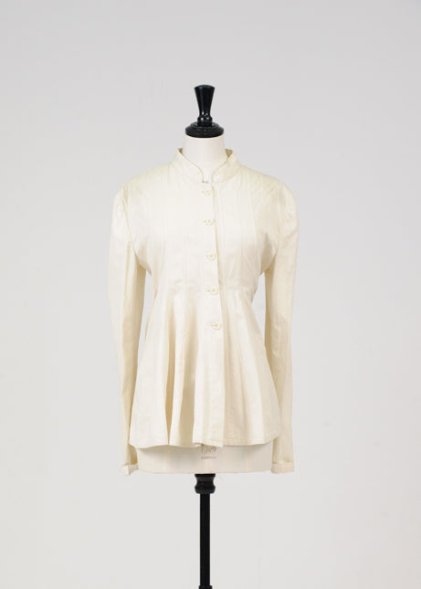 Pleated cotton jacket by Ashish n Soni