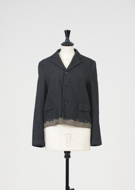 Dip dyed wool jacket by Comme des garcons