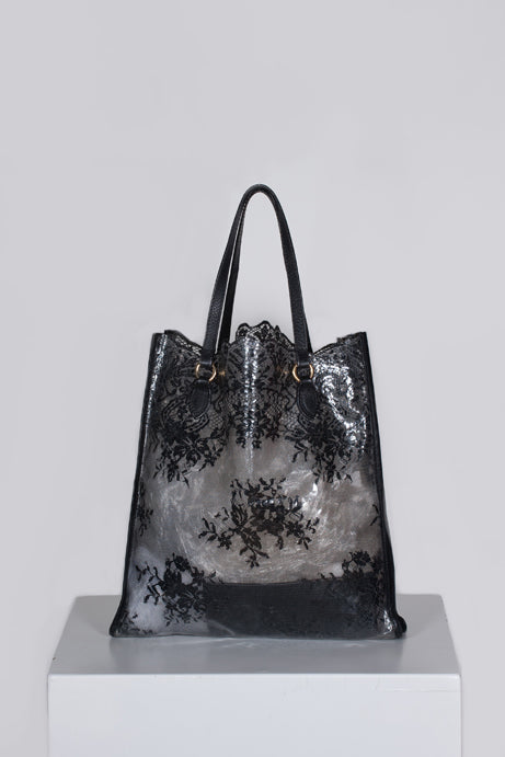 Lace-effect tote by Valentino