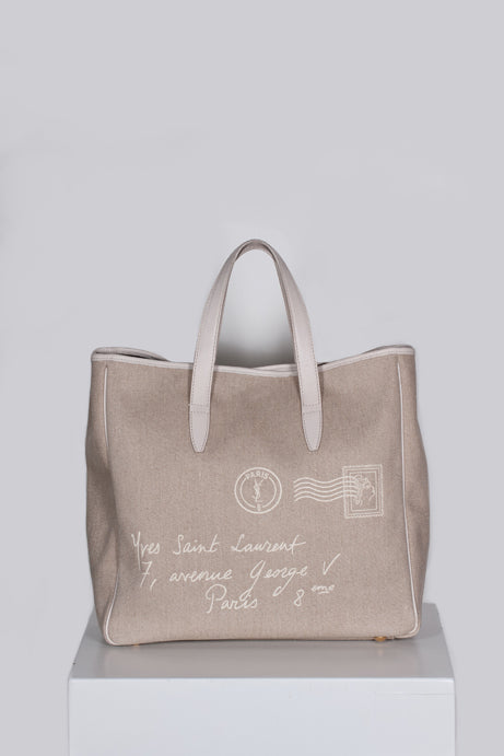 Canvas Mail Tote by YSL