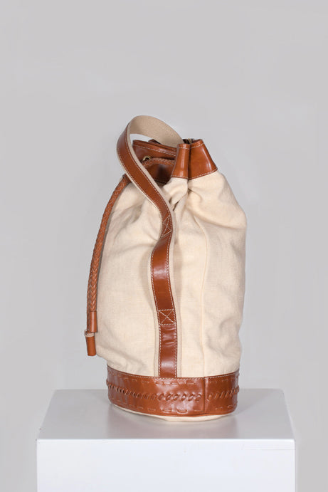 Canvas & leather duffle bag by Emillio Pucci