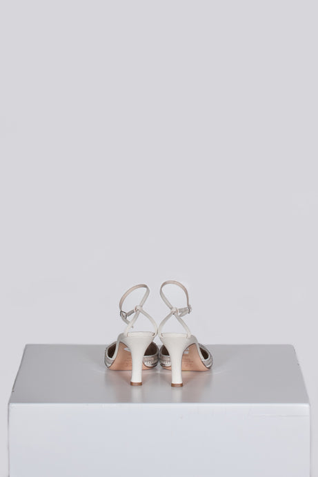 Metallic ankle strap shoes by Emma Hope