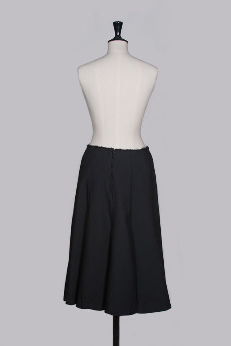 Wool panelled skirt by Comme des garcons
