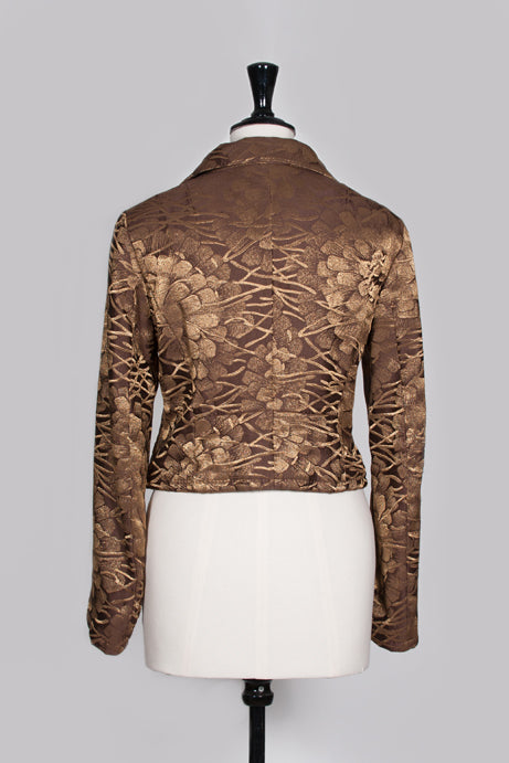 Gold textured jacket by Dries van Noten
