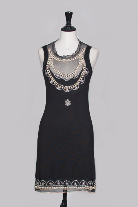 82c774ed0b1 Pearl and diamante cocktail dress by Christian Dior