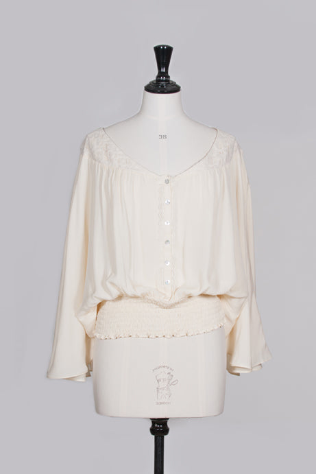 Silk and lace vintage-style blouse by Beyond Vintage