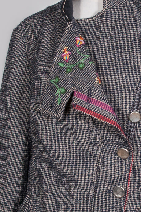 Tweed brass-buttoned jacket by Marithe et Francois Girbaud