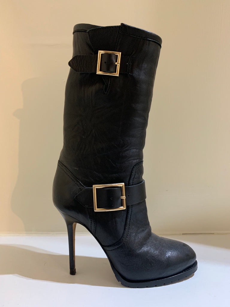 Heeled Buckle Boots by Jimmy Choo