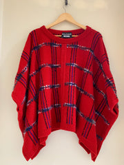 Tartan Poncho by Moschino Boutique at Isabella's Wardrobe