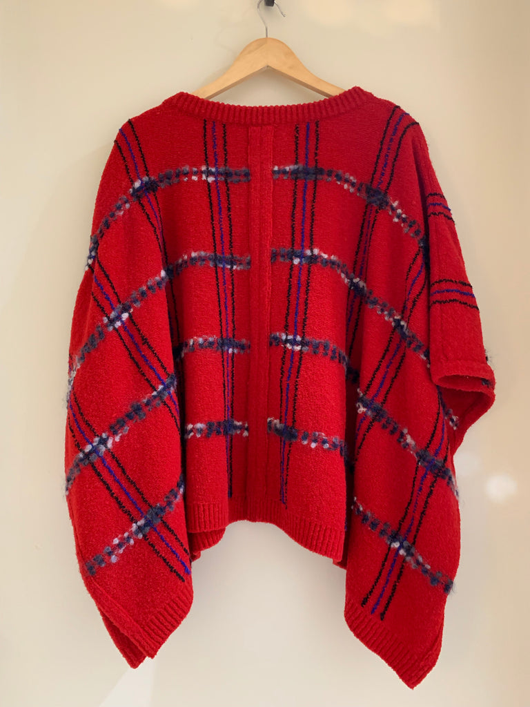 Tartan Poncho by Moschino Boutique