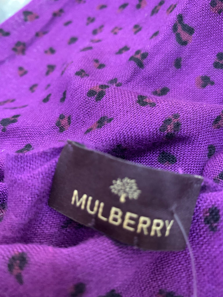 Animal Print Scarf by Mulberry