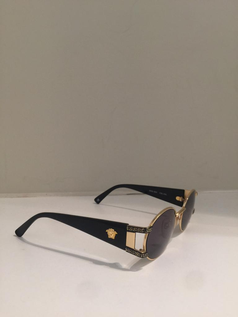 Vintage Goldtone Oval Sunglasses by Versace