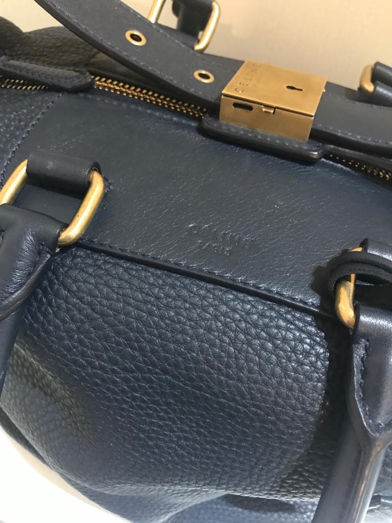 Zip Top Satchel by Celine