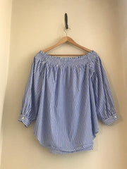 Striped Bardot Top by Designer-Polo Ralph Lauren at Isabella's Wardrobe
