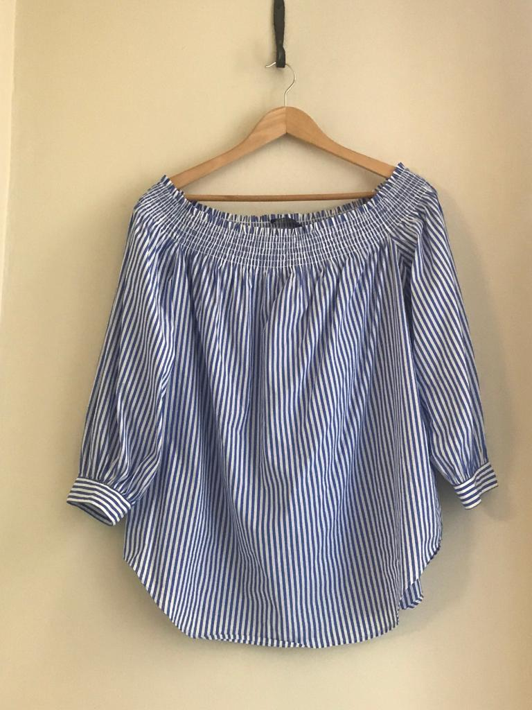 Striped Bardot Top by Designer-Polo Ralph Lauren