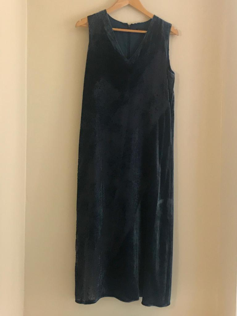 Velvet Burnout Textured Dress by Donna Karan