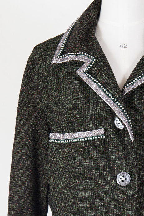 Embellished tweed jacket by Voyage